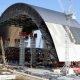 Timelapse video Tšernobõli uue sarkofaagi paigaldusest