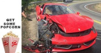 26-aastane kutt üritab naisele muljet avaldada ja rendib $450,000 maksva Ferrari, teeb sellega avarii