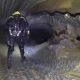 Sukeldujad sügaval 100m pikkuses õhku täis koopas Bjurälveni jõe all