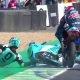 Moto3 sõitja Jakub Kornfeil tuleb uskumatu hüppega välja lootusetust olukorrast…